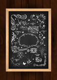 Chalkboard with design elements Stock Photography