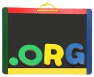 chalkboard domeny kropki pozioma org wierzchołek Obrazy Stock