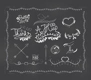chalkboard doodle frame Stock Photography