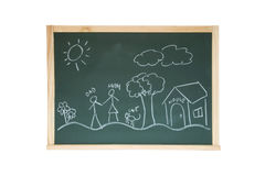 Chalkboard with draw Stock Photo