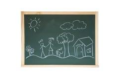 Chalkboard with draw Stock Photo