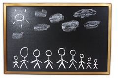 Chalkboard drawing Stock Images
