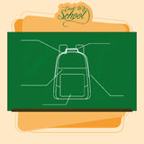 Chalkboard With A Drawing Of A Backpack Royalty Free Stock Photography