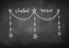 Chalkboard drawing of garland Stock Photography