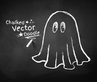 Chalkboard drawing of ghost Royalty Free Stock Photography