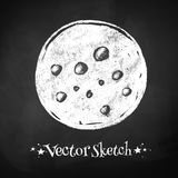 Chalkboard drawing of moon Royalty Free Stock Photos