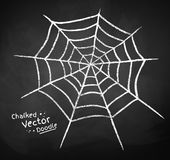 Chalkboard drawing of spider web Stock Image