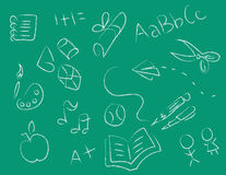 Chalkboard Drawings Stock Images