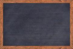 Chalkboard drewna rama z czerni powierzchnią obrazy stock
