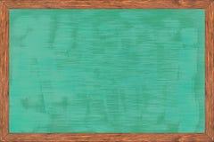 Chalkboard drewna rama z czerni powierzchnią fotografia royalty free