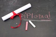 chalkboard dyplom Zdjęcia Stock
