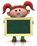chalkboard dziewczyna ilustracja wektor