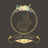Chalkboard Easter Greeting. A vector illustration of Chalkboard Easter Greeting. Perfect for Easter day, Easter celebrations and greeting card Royalty Free Stock Image