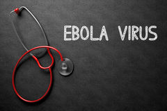 Chalkboard with Ebola Virus. 3D Illustration. Royalty Free Stock Photos