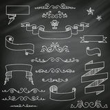 Chalkboard Elements Stock Photo