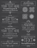 Chalkboard etykietki i projektów elementy ilustracji