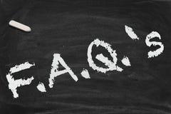 chalkboard faq Zdjęcie Stock
