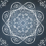 Chalkboard filigree ornament Royalty Free Stock Photography