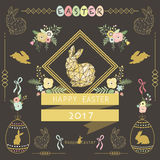 Chalkboard Floral Easter. A vector illustration of Chalkboard Floral Easter. Perfect for Happy Easter day, Easter celebrations, greeting card and many more vector illustration