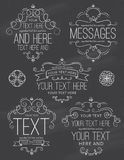 Chalkboard Flourish Frames and Labels Two Stock Images
