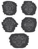 Chalkboard Flourish Labels Royalty Free Stock Photos