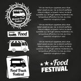 Chalkboard food festival poster design Royalty Free Stock Photos