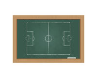 Chalkboard with a football field Royalty Free Stock Photography