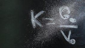 Chalkboard formuły pyłu proszek nikt hd materiał filmowy zdjęcie wideo
