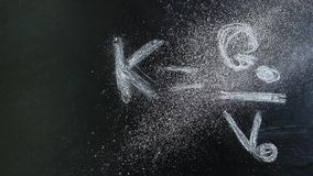 Chalkboard formula dust powder nobody hd footage. Studio stock video footage