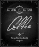 Chalkboard - frame coffee menu Stock Photography