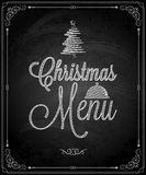 Chalkboard - frame merry christmas menu Stock Photo
