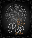 Chalkboard - frame pizza menu Stock Images