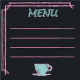Chalkboard frame with place for menu text. Vector - Chalkboard frame with place for menu text Royalty Free Stock Photography