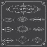 Chalkboard Frames and Ornaments Royalty Free Stock Photos