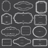 Chalkboard Frames and Ornaments Stock Images