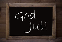 Chalkboard With God Jul Means Merry Christmas Royalty Free Stock Images