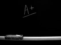 Chalkboard with Grade A good score Stock Photography