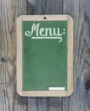 Chalkboard green menu Royalty Free Stock Photos