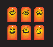 Chalkboard halloween gift tags Royalty Free Stock Image