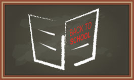 Chalkboard with hand drawing booklet Stock Image