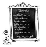 Chalkboard. Hand drawn. Coffee shop menu Stock Photos