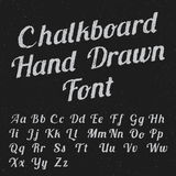 Chalkboard Hand Drawn Font Poster Royalty Free Stock Photography