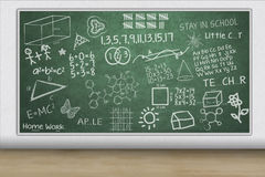 Chalkboard with hand drawn illustration Royalty Free Stock Photography