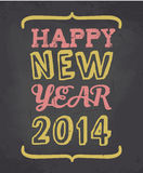 Chalkboard Happy New Year Card. Chalkboard style greeting card for New Year's Stock Image