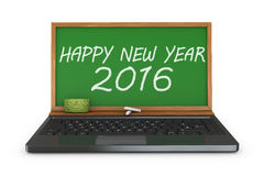 Chalkboard  Happy New Year 2016 Royalty Free Stock Photos