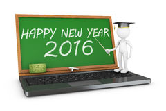 Chalkboard  Happy New Year 2016. Notebook and chalkboard with the inscription Happy New Year 2016 Royalty Free Stock Photos