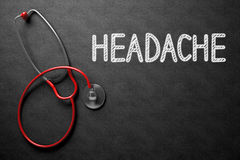 Chalkboard with Headache. 3D Illustration. Royalty Free Stock Photo