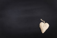 Chalkboard with heart Stock Photography