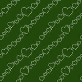 Chalkboard hearts seamless pattern stock photography