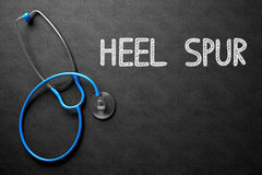 Chalkboard with Heel Spur Concept. 3D Illustration. Stock Photography